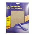 Pack of abrasive dry sheet