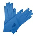 Blue jersey gloves